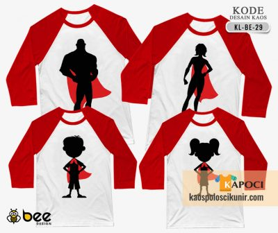 Kaos Couple Superhero Family